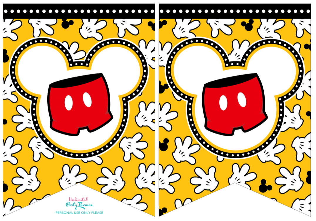 FREE PRINTABLE MICKEY MOUSE BANNER