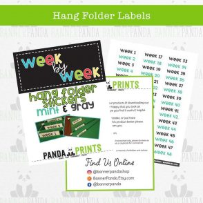 Hang Folder Labels – Mint & Gray