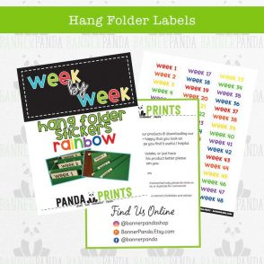 Hang Folder Labels – Rainbow