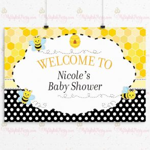 Bee Baby Shower Backdrop
