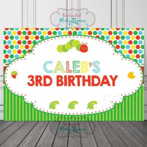 Caterpillar Birthday Backdrop