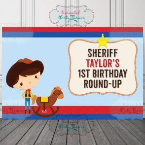 Cowboy Birthday Backdrop