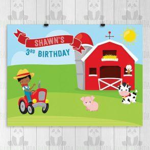 Farm Birthday Backdrop