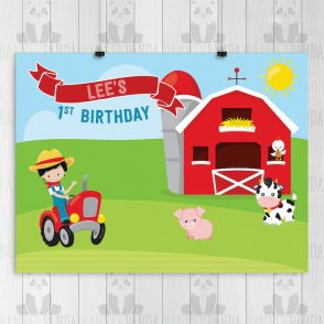 Farm Birthday Backdrop