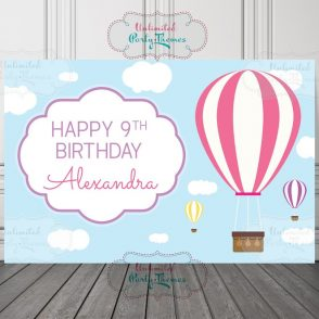 Hot Air Balloon Birthday Backdrop