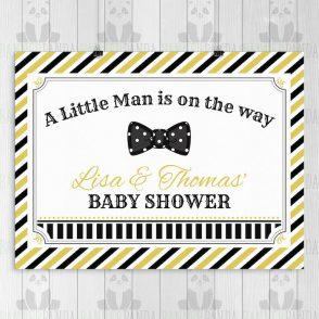 Little Man Baby Shower Backdrop