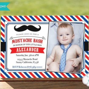 Little Man Birthday Invitation