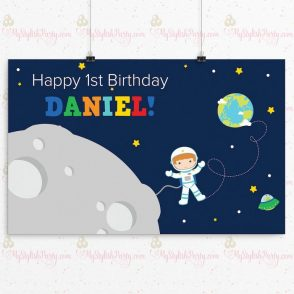 Outer Space Birthday Backdrop