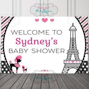 Paris Baby Shower Backdrop