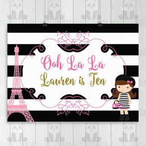 Paris Birthday Banner