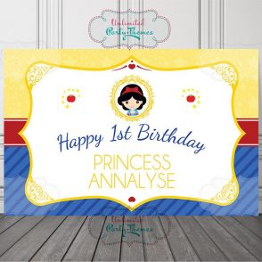 Snow White Birthday Backdrop