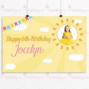 Sunshine Birthday Backdrop