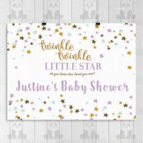 Twinkle Twinkle Baby Shower Backdrop