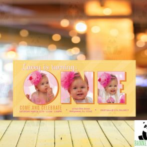 1st Birthday Girl Invitation