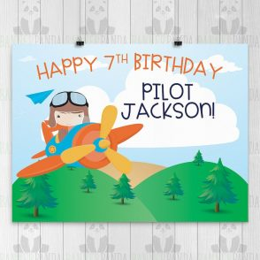 Airplane Birthday Banner