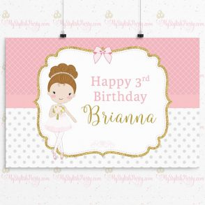 Ballerina Birthday Backdrop
