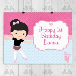Ballerina Birthday Party Sign