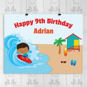 Beach Party Birthday Sign