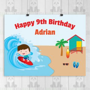 Beach Party Birthday Party Sign