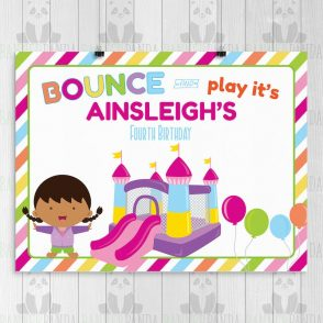 Bounce House Birthday Party Sign