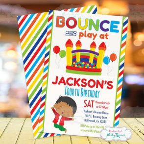 Bounce House birthday Invitation