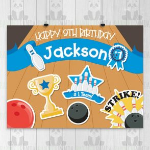 Bowling Birthday Party Sign