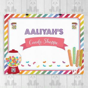 Candy Shop Birthday Party Sign