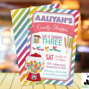 Candy Shop Birthday Invitation