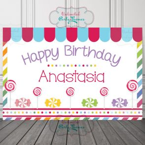 Candyland Birthday Party Sign