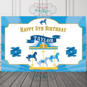 Carousel Birthday Sign