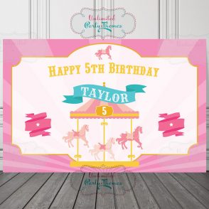 Carousel Birthday Party Sign