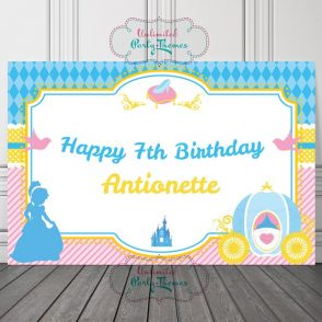 Cinderella Birthday Backdrop