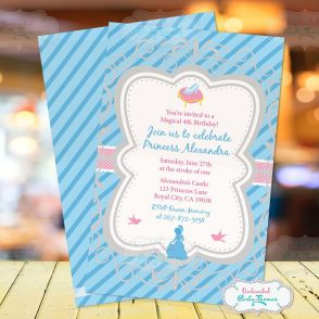 Cinderella Birthday Party Invitation