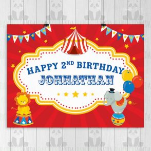 Circus Birthday Party Sign
