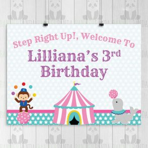 Circus Birthday Backdrop