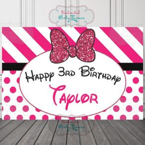 Glam Mouse Birthday Party Sign