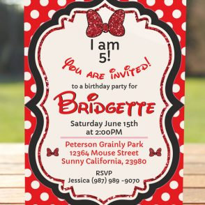 Glam Mouse Invitation