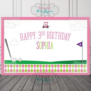 Golf Birthday Backdrop
