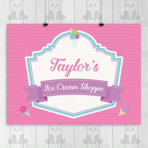 Ice Cream Birthday Party Sign