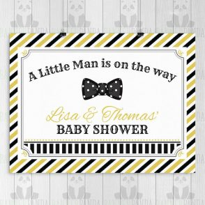 Little Man Baby Shower Backdrop
