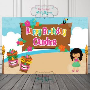 Luau Birthday Party Sign