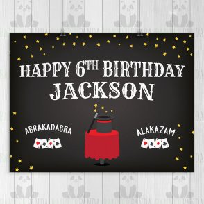Magic Birthday Party Sign