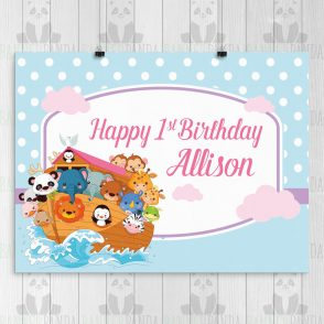 Noahs Ark Birthday Party Sign