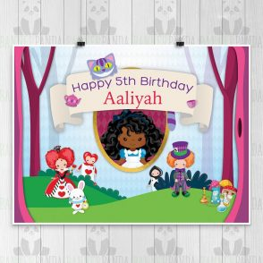 Alice in Wonderland Birthday Party Sign