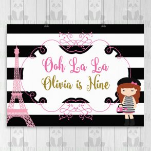 Paris Party Backdrop
