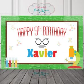 Mad Science Birthday Party Sign