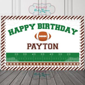 Football Birthday Sign