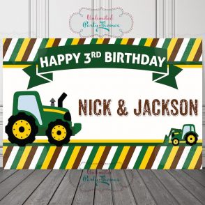 Tractor Birthday Party Sign