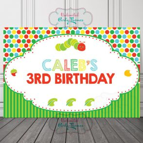 Hungry Caterpillar Birthday Sign