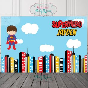 Superhero Birthday Party Sign